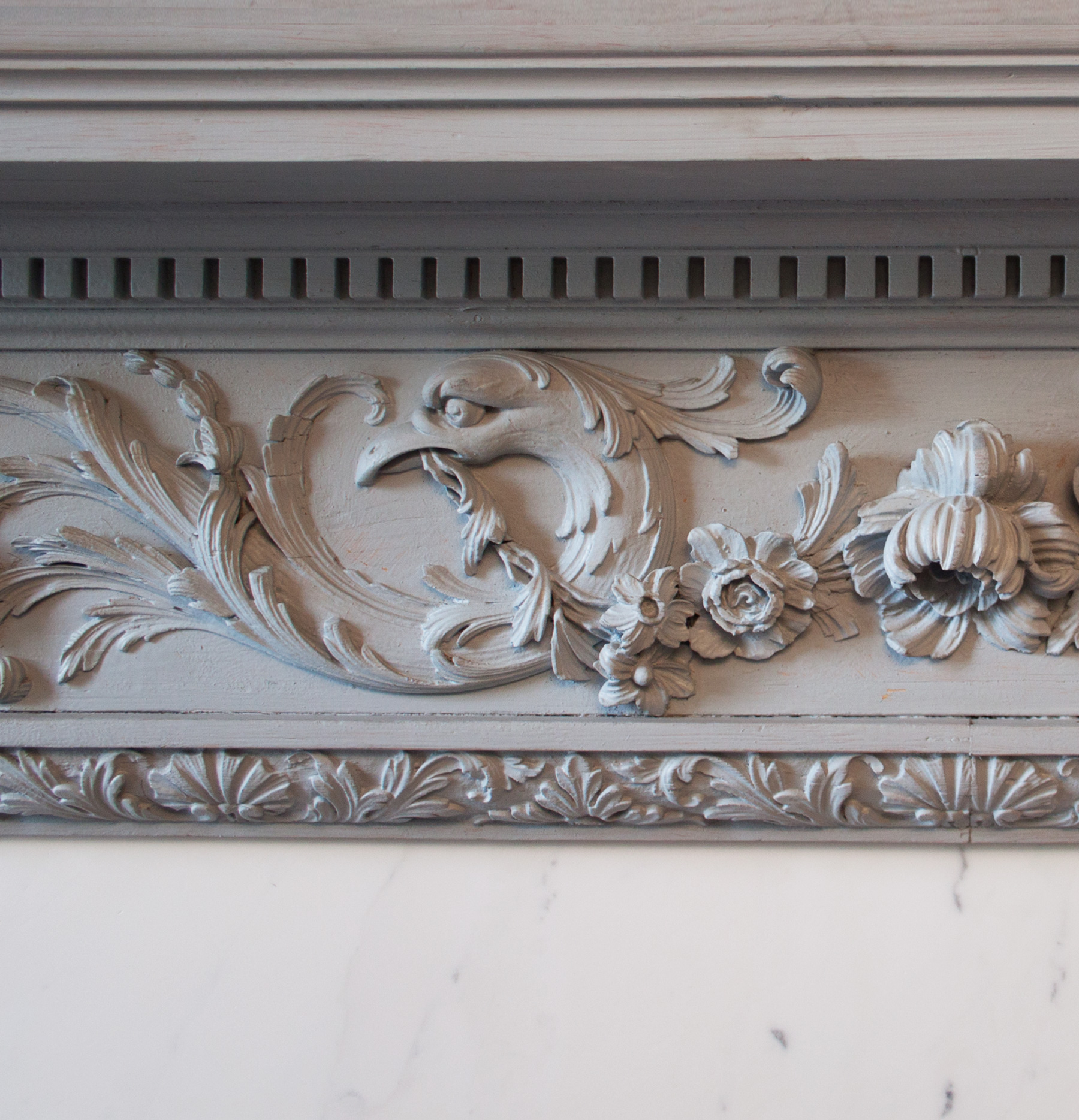 A George III pine chimneypiece,-87295