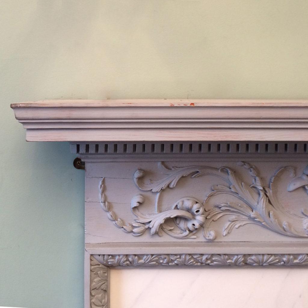 A George III pine chimneypiece,-87293