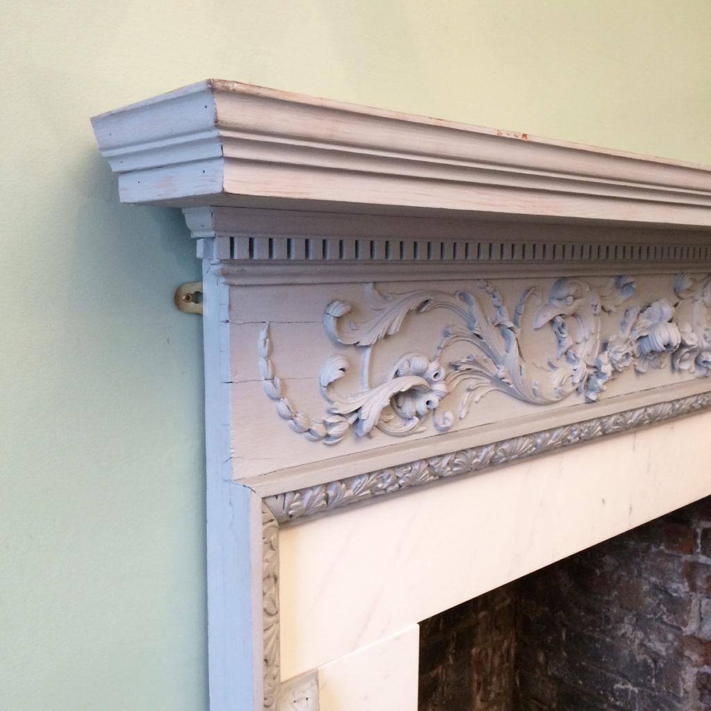 A George III pine chimneypiece,-87294