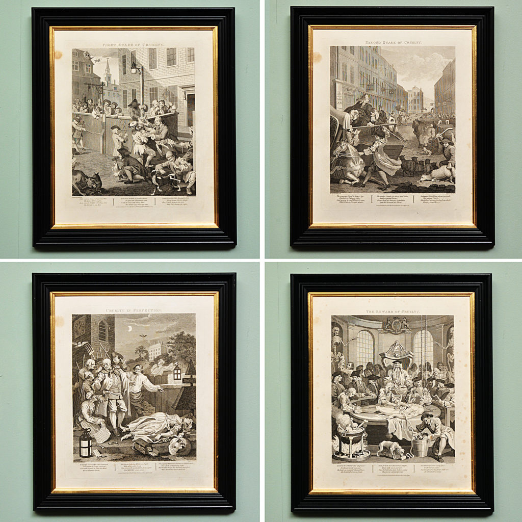 Copper engravings of 'Four Stages of Cruelty'