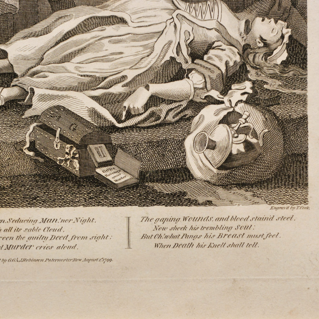 The Four Stages of Cruelty after William Hogarth. A set of four copper-engraved prints-87597
