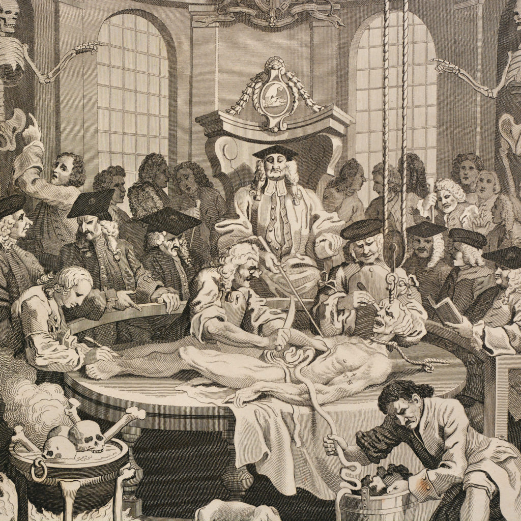 The Four Stages of Cruelty after William Hogarth. A set of four copper-engraved prints-87599