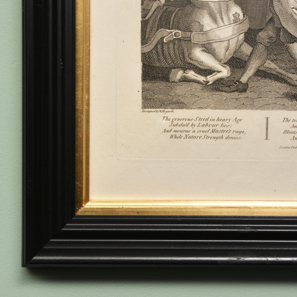 The Four Stages of Cruelty after William Hogarth. A set of four copper-engraved prints-87595