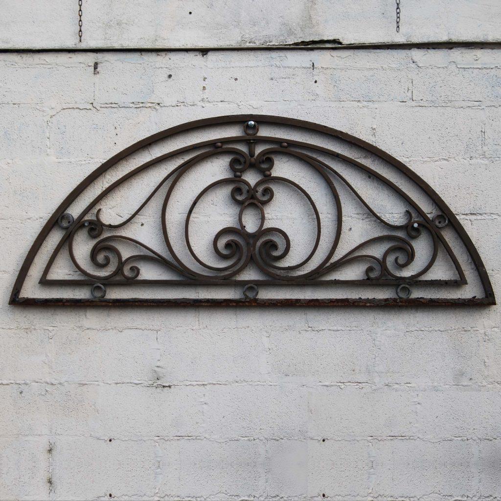 wrought iron overdoor fanlight