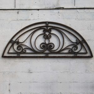 wrought iron overdoor fanlight