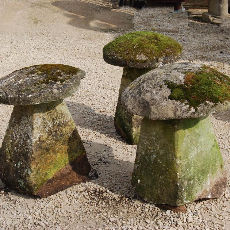Staddle stone 43252 on left