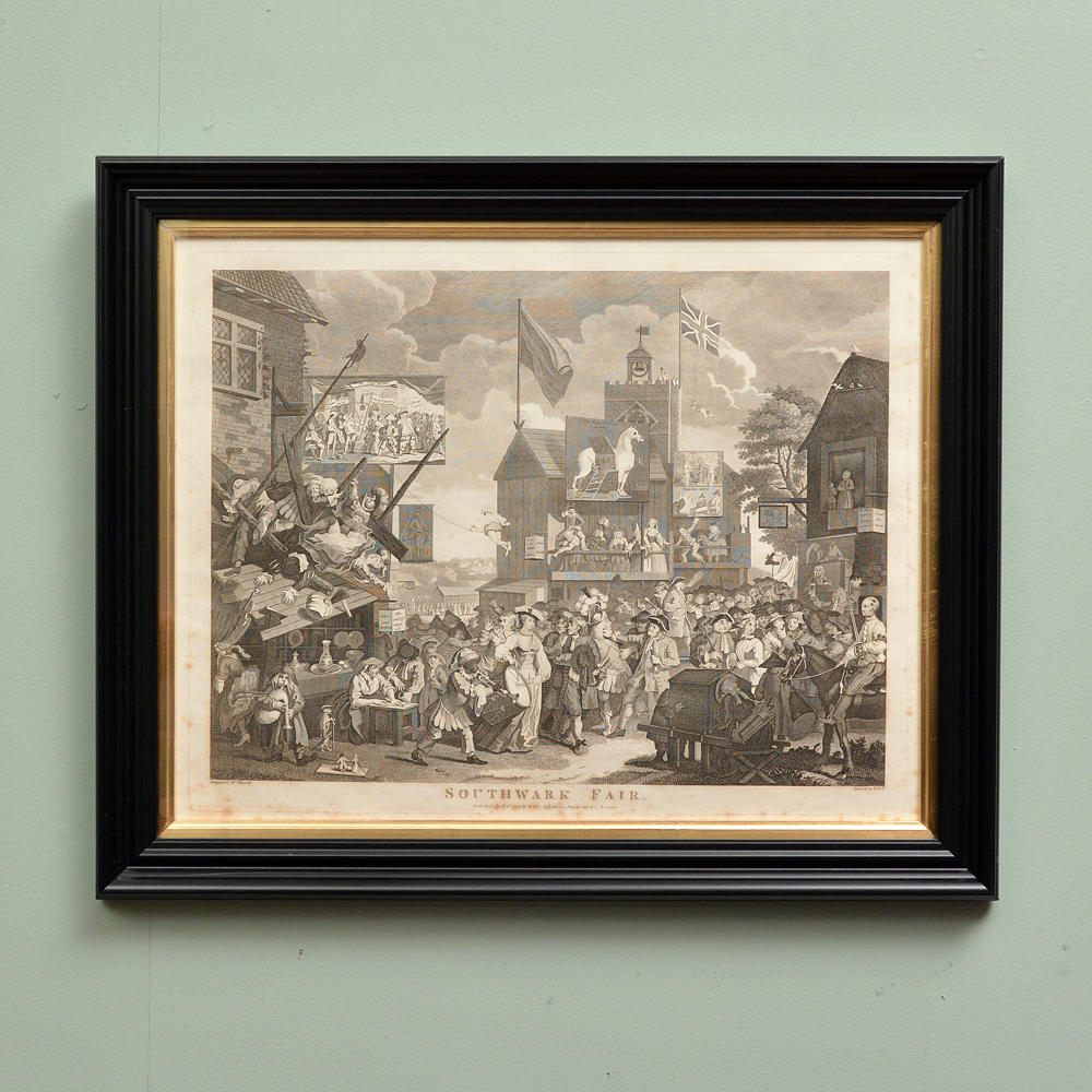 Southwark Fair, copper-engraved print after William Hogarth-0