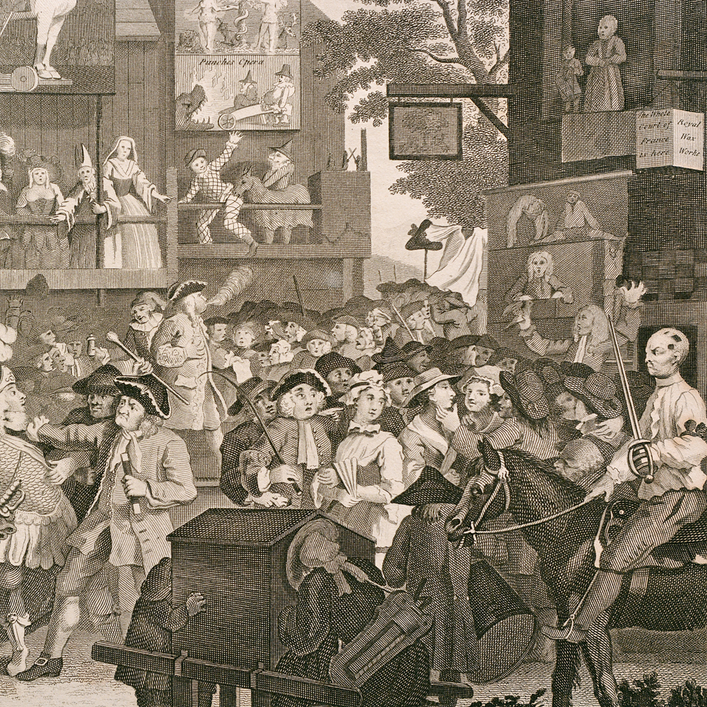 Southwark Fair, copper-engraved print after William Hogarth-87693
