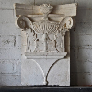 Plaster pilaster capital