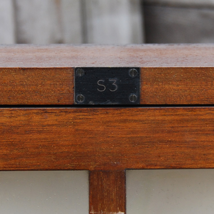 An English glazed mahogany museum wall cabinet,-88263