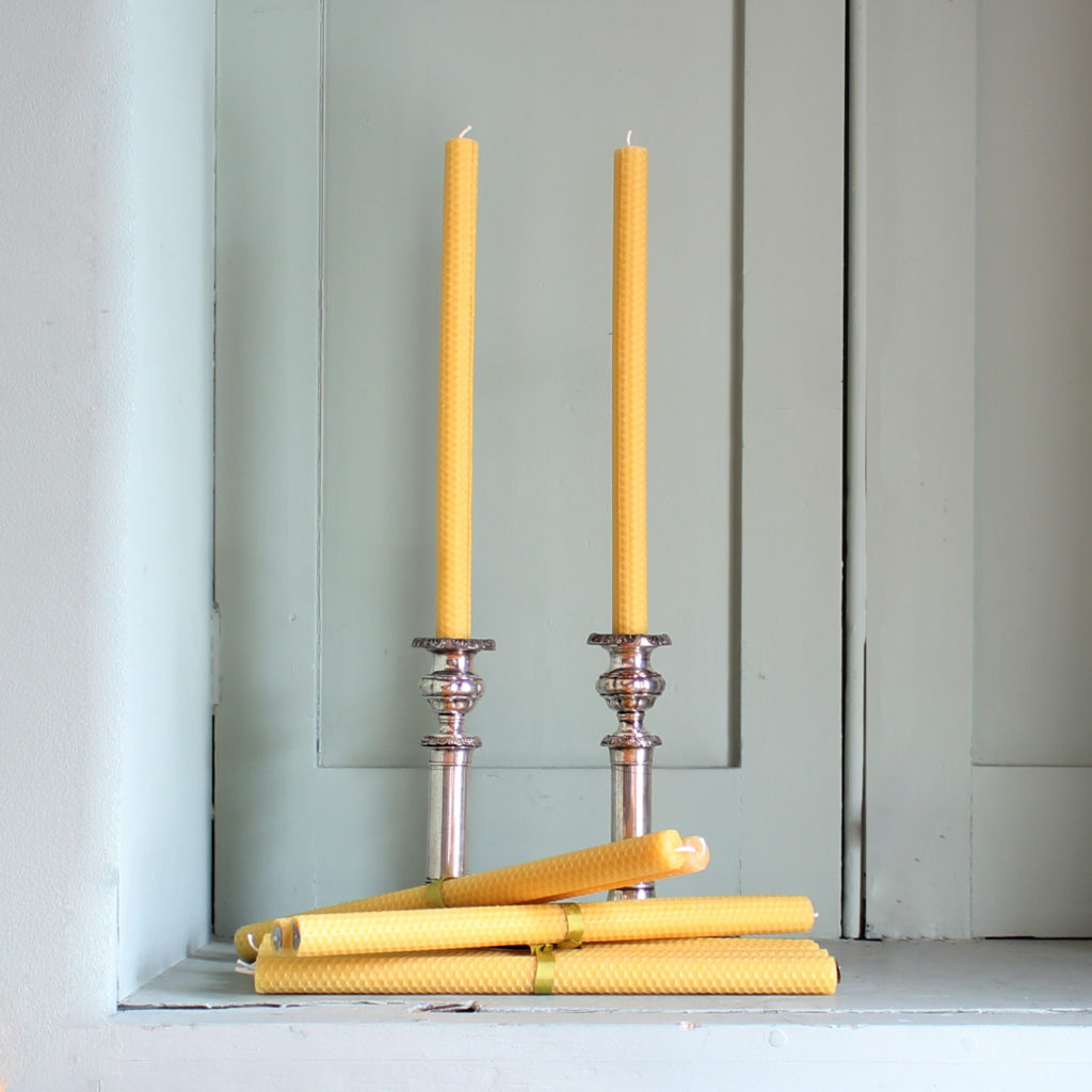 Beeswax rolled candle sticks,-89025