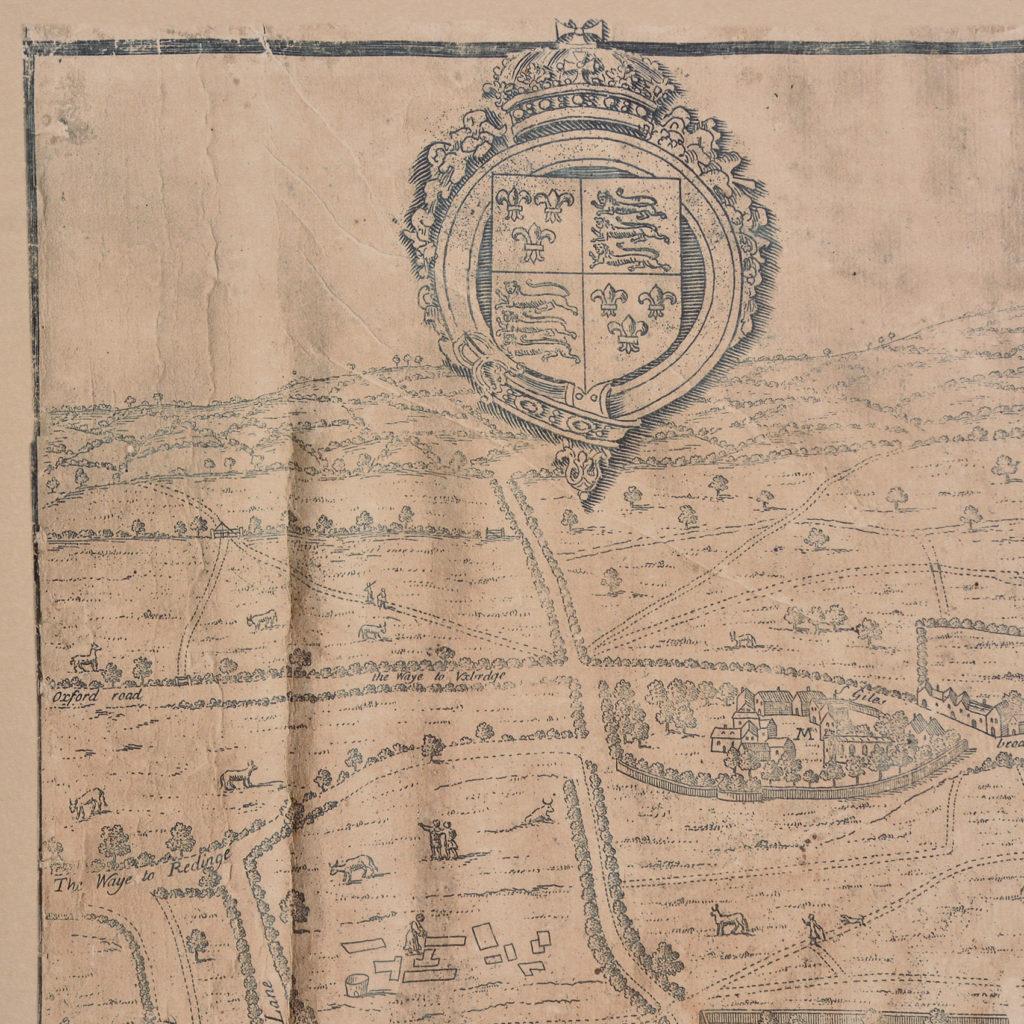 Framed bird's-eye view showing London in 1560,-89243