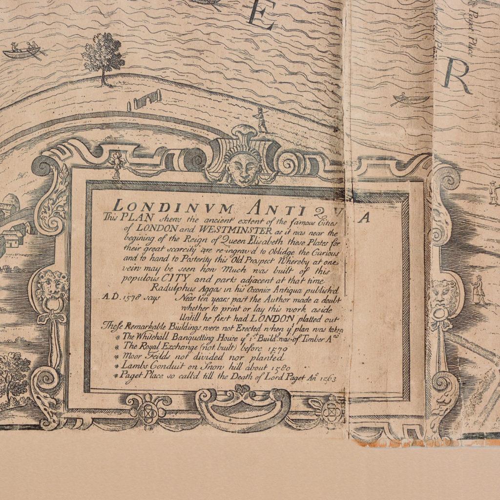 Framed bird's-eye view showing London in 1560,-89240