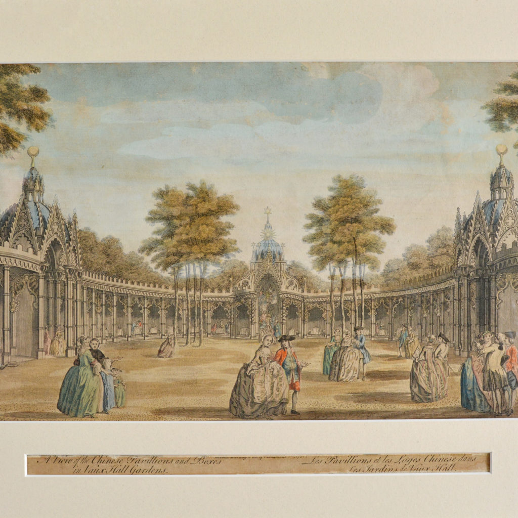 The Chinese Pavillions in Vauxhall Gardens, -89762