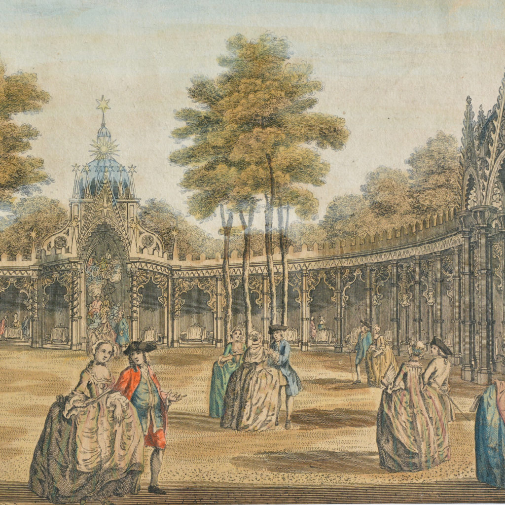 The Chinese Pavillions in Vauxhall Gardens, -89761