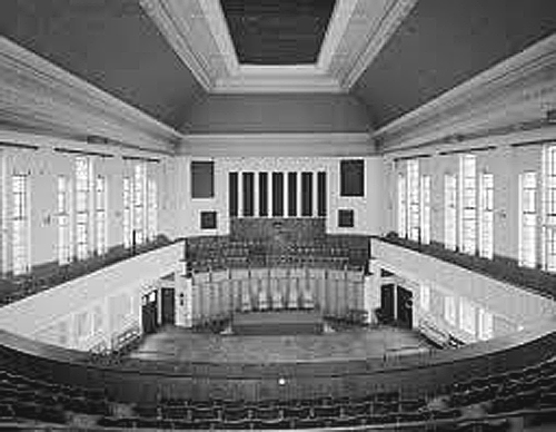 Archway Methodist Hall View from Cinema Seats