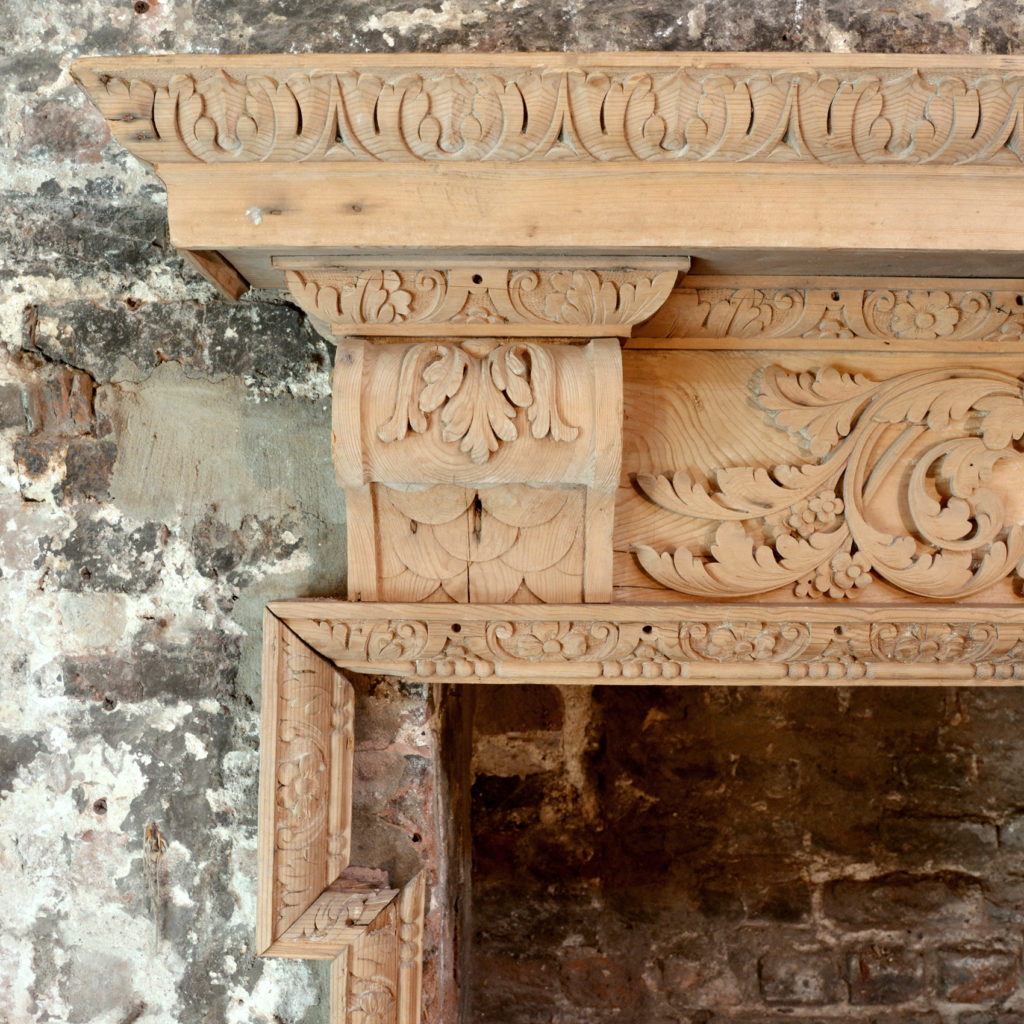 A George III carved fire surround,-90690
