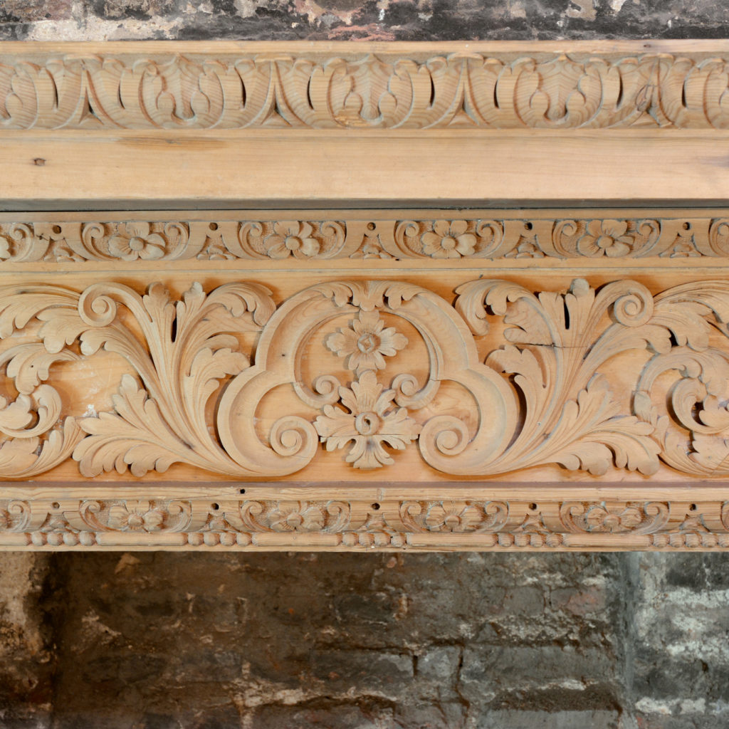 A George III carved fire surround,-90693