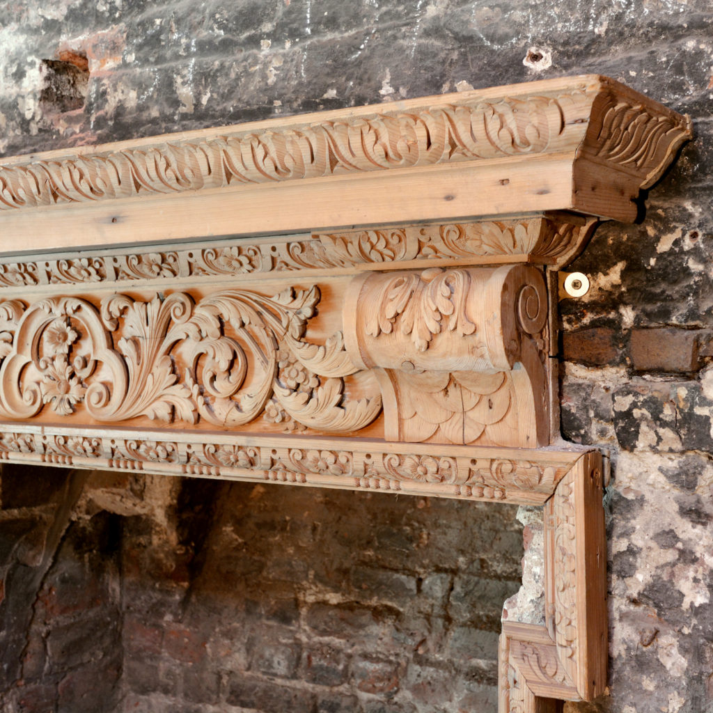 A George III carved fire surround,-90694