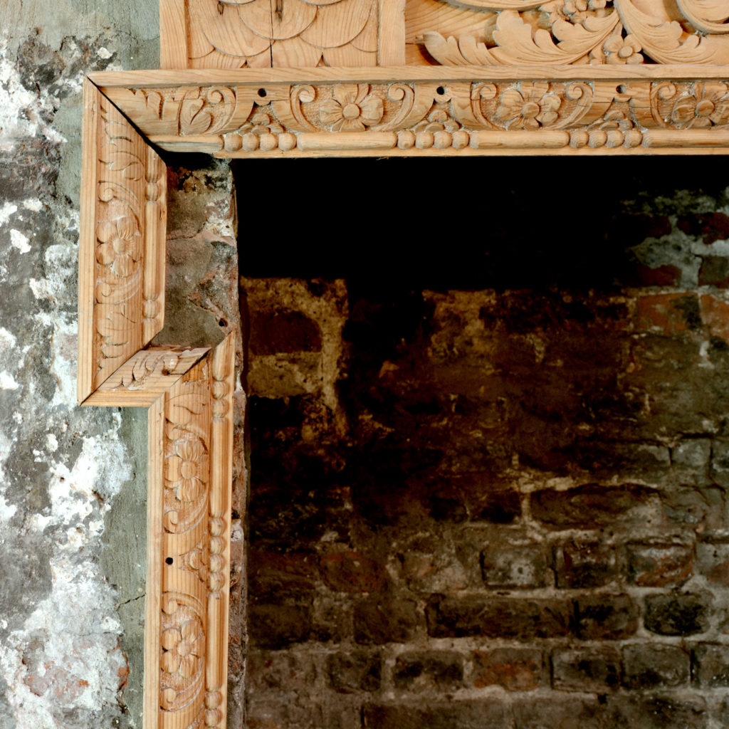 A George III carved fire surround,-90689