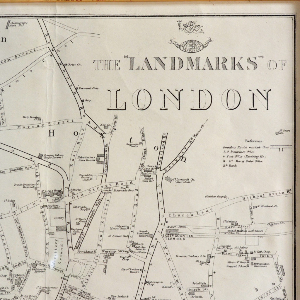 The Landmarks of London Map,-90581