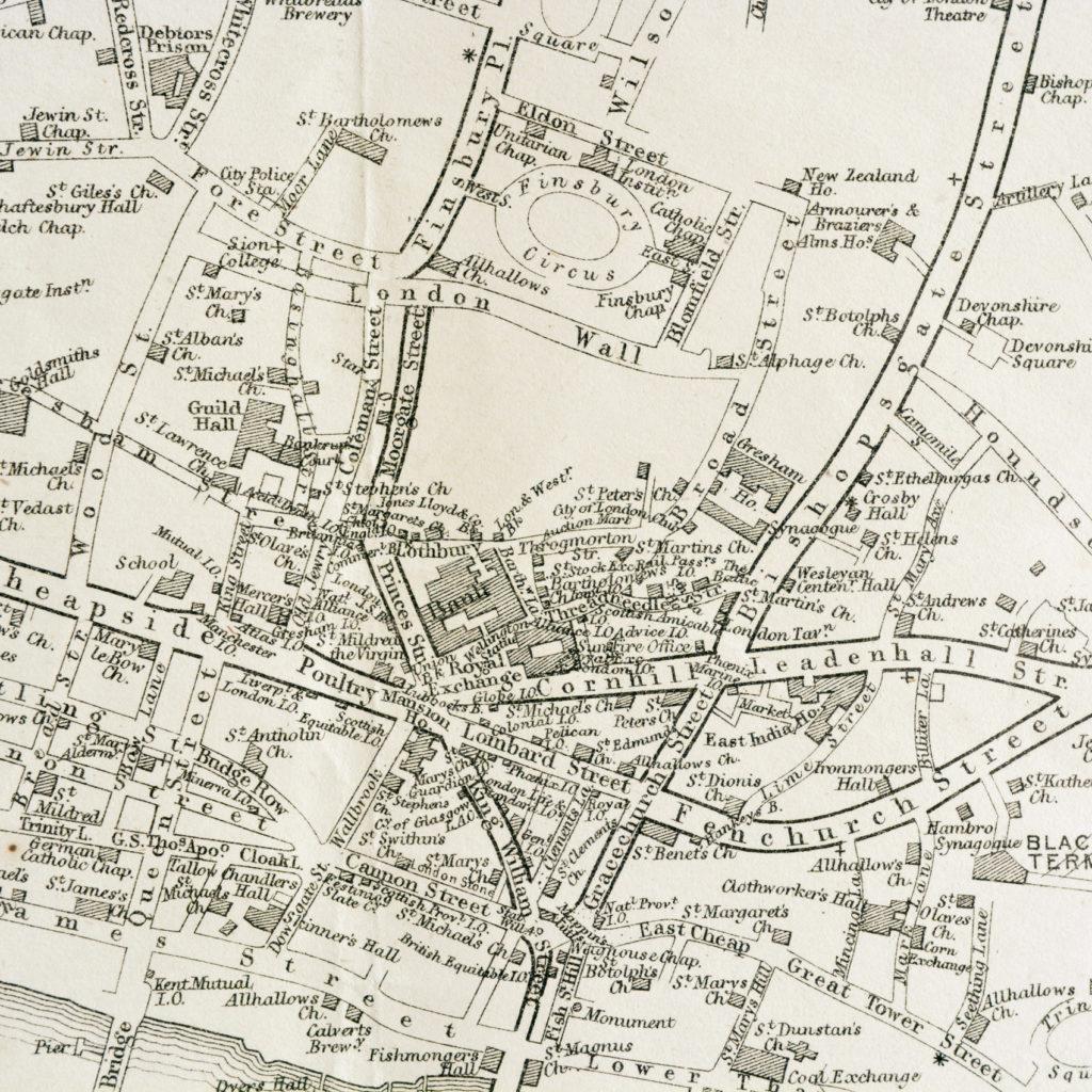 The Landmarks of London Map,-90585