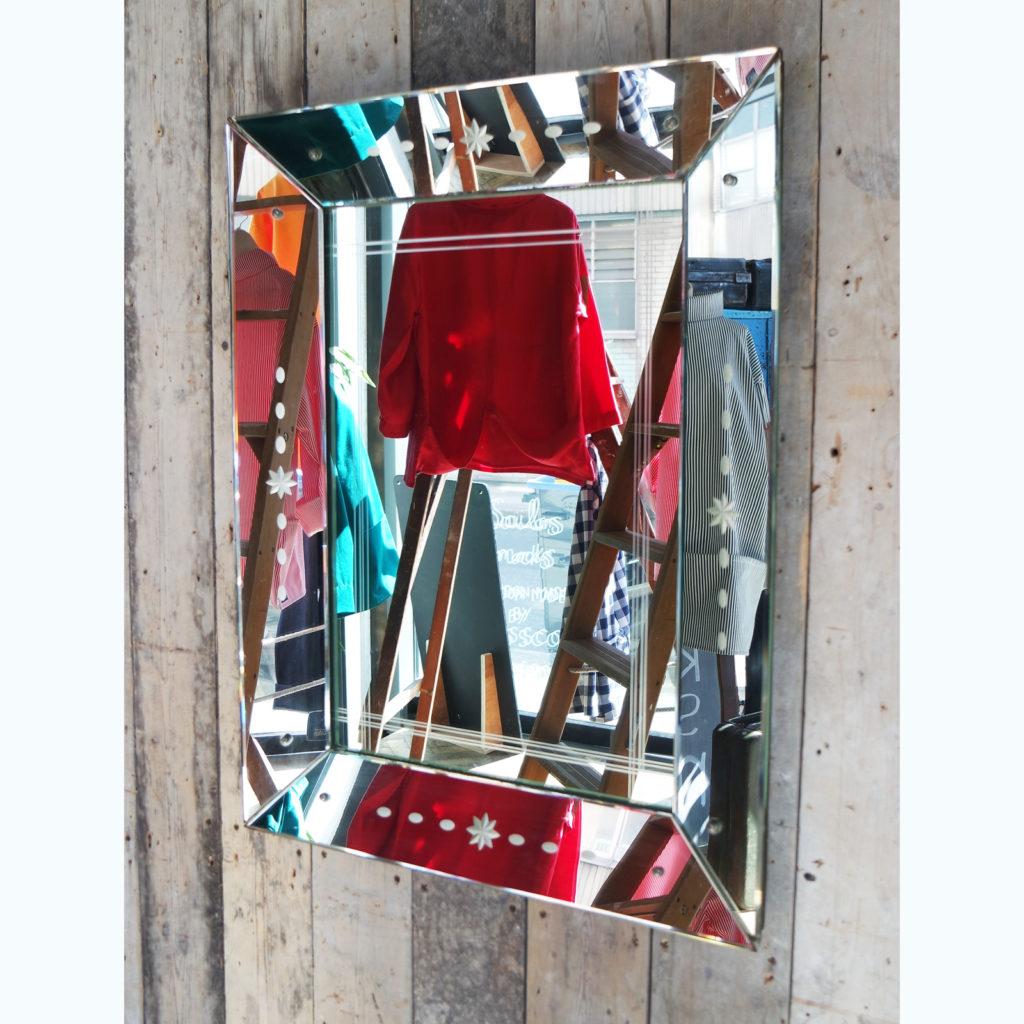 Modernist French mirror,-0