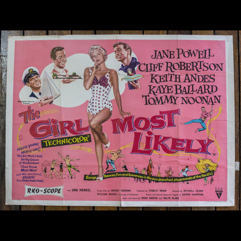 'The Girl Most Likely' original film poster,-0