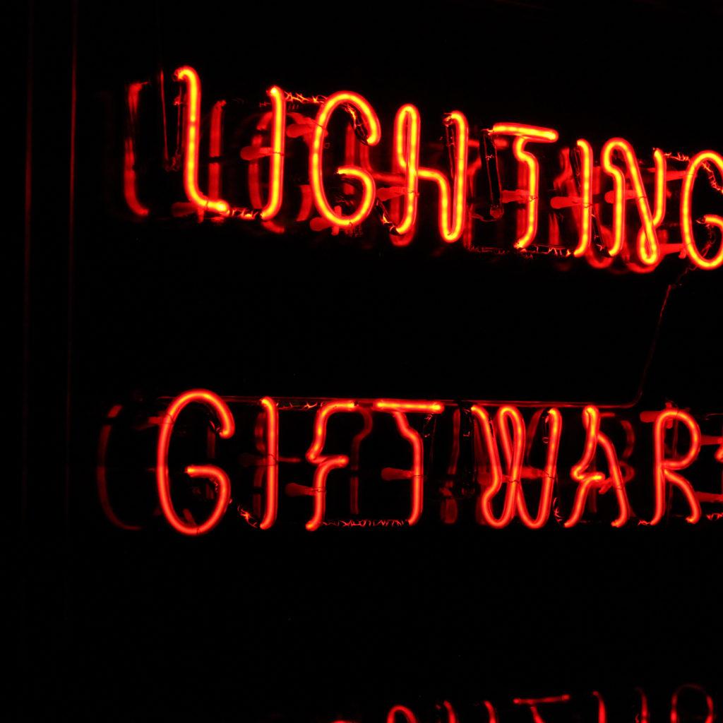 A neon takeaway illuminated signboard, -92941