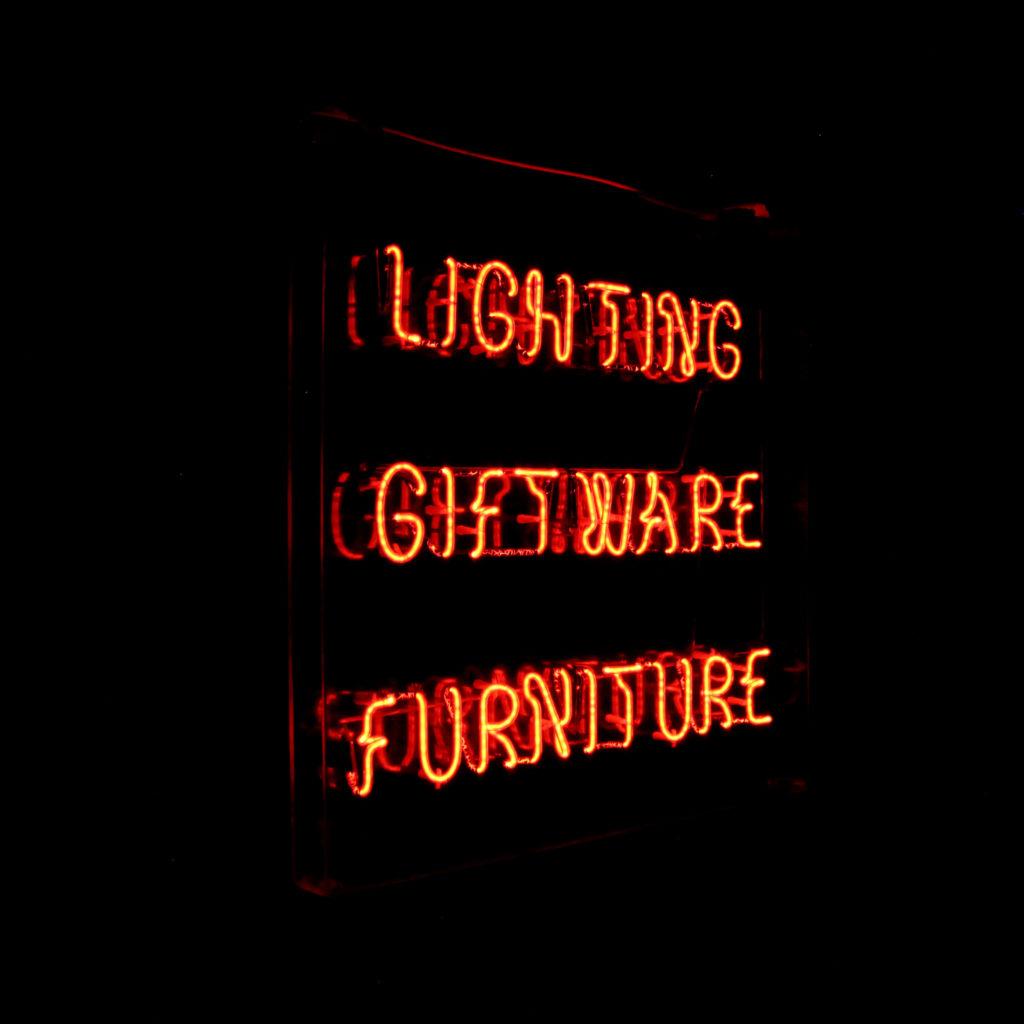 A neon takeaway illuminated signboard, -92938