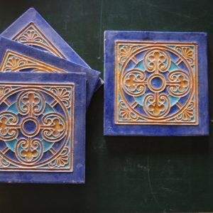 Cloisonne tile by Bodart