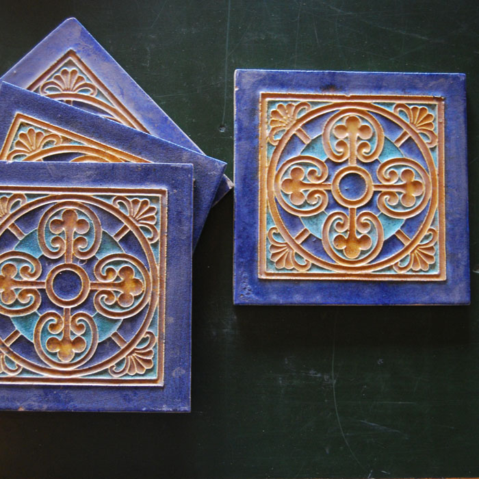 Cloisonne tile by Bodart