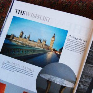 Salvaged Bridge feature in London Magazzine