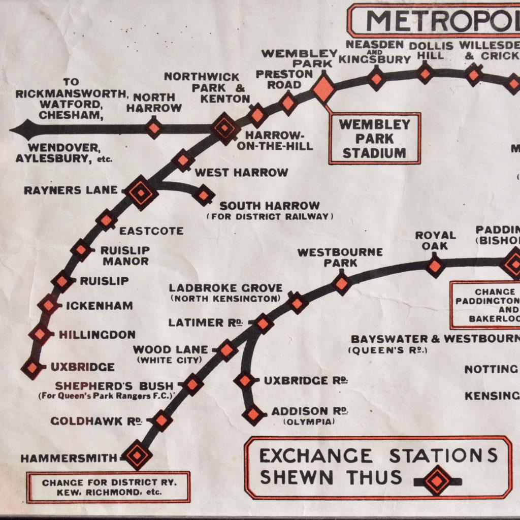 Metropolitan Line, carriage map,-93466