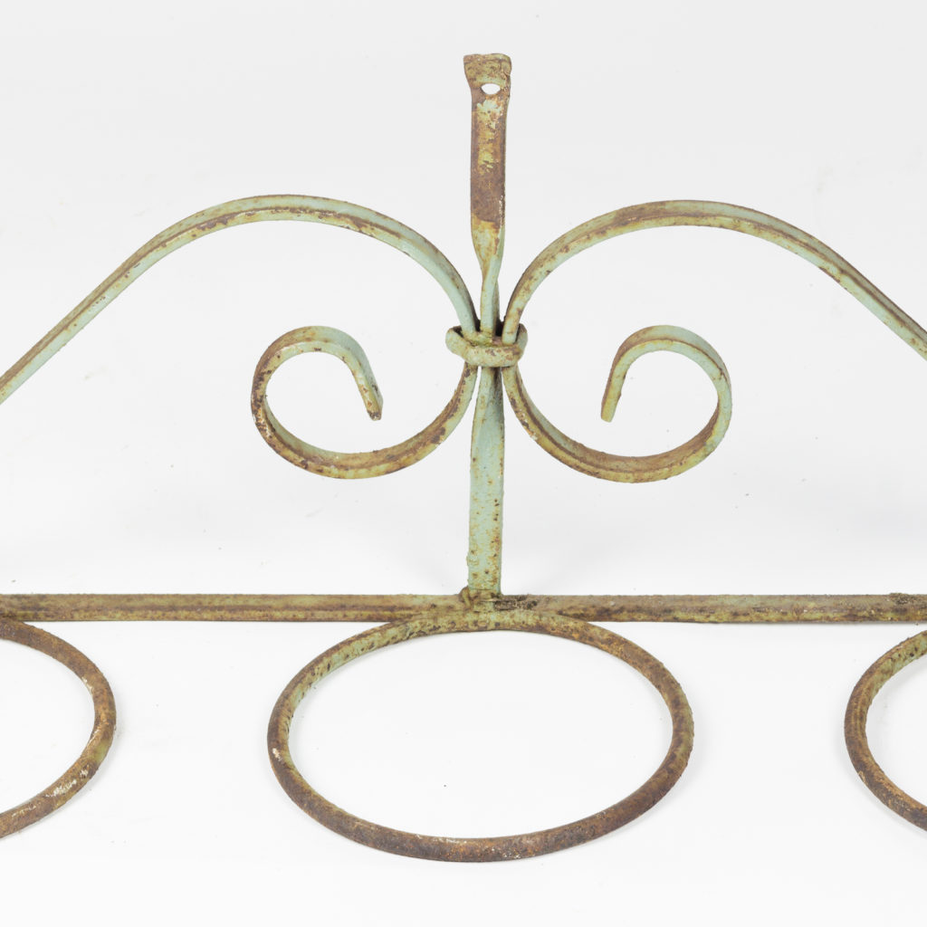 Wrought iron plant pot mount,-93679