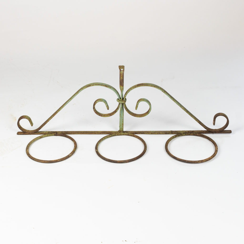 Wrought iron plant pot mount,-0