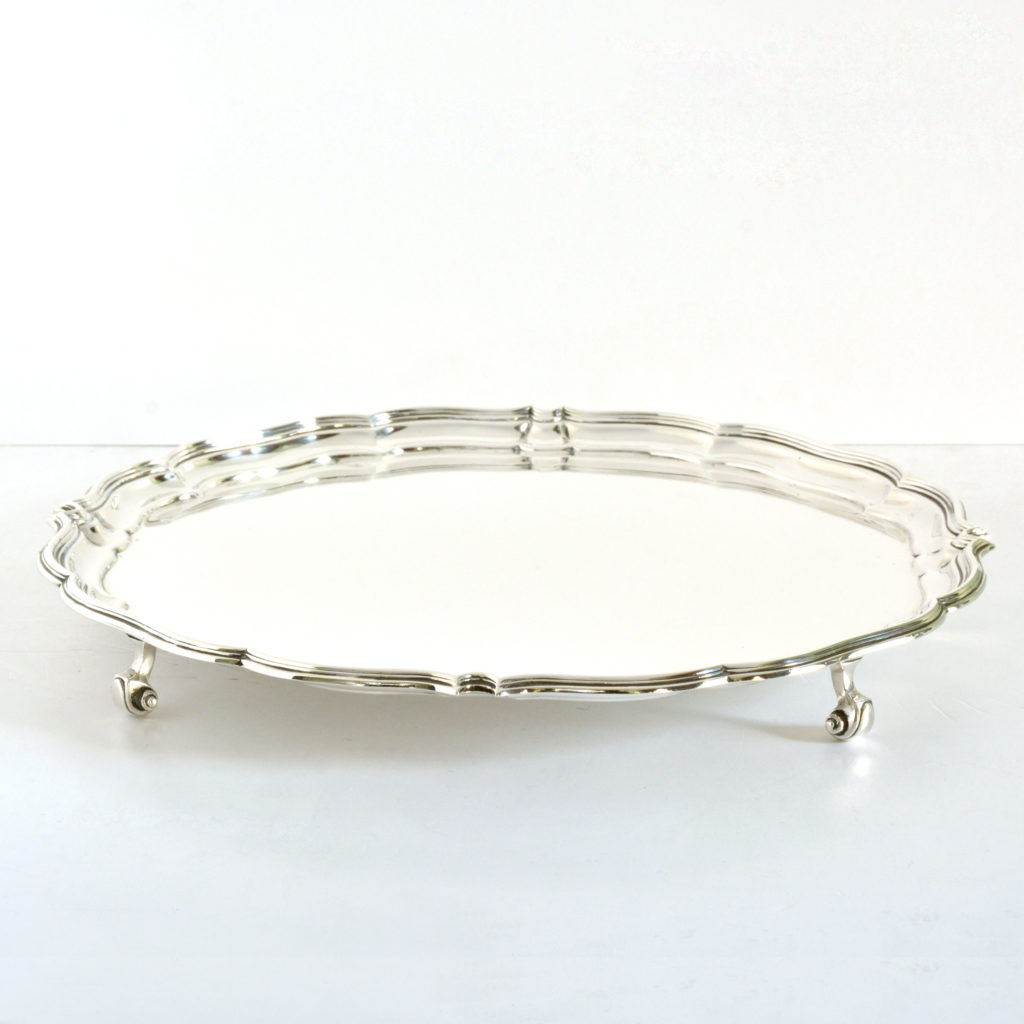 A George V sterling silver salver,-94292