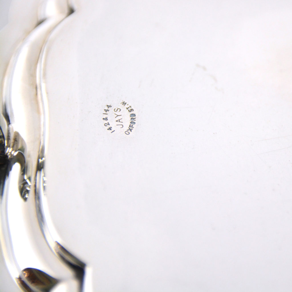 A George V sterling silver salver,-94288