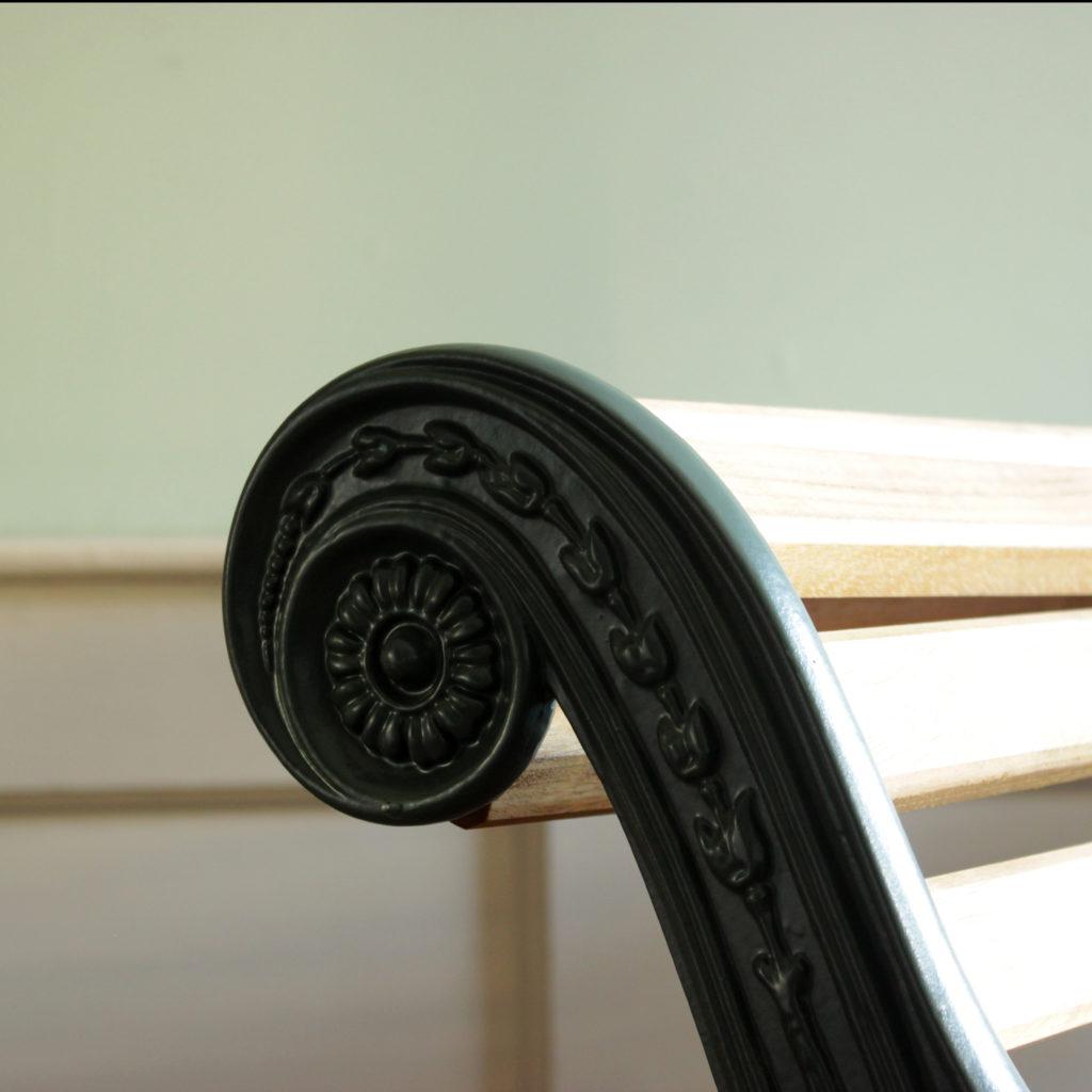 Decorative cast iron and teak garden bench,-94139