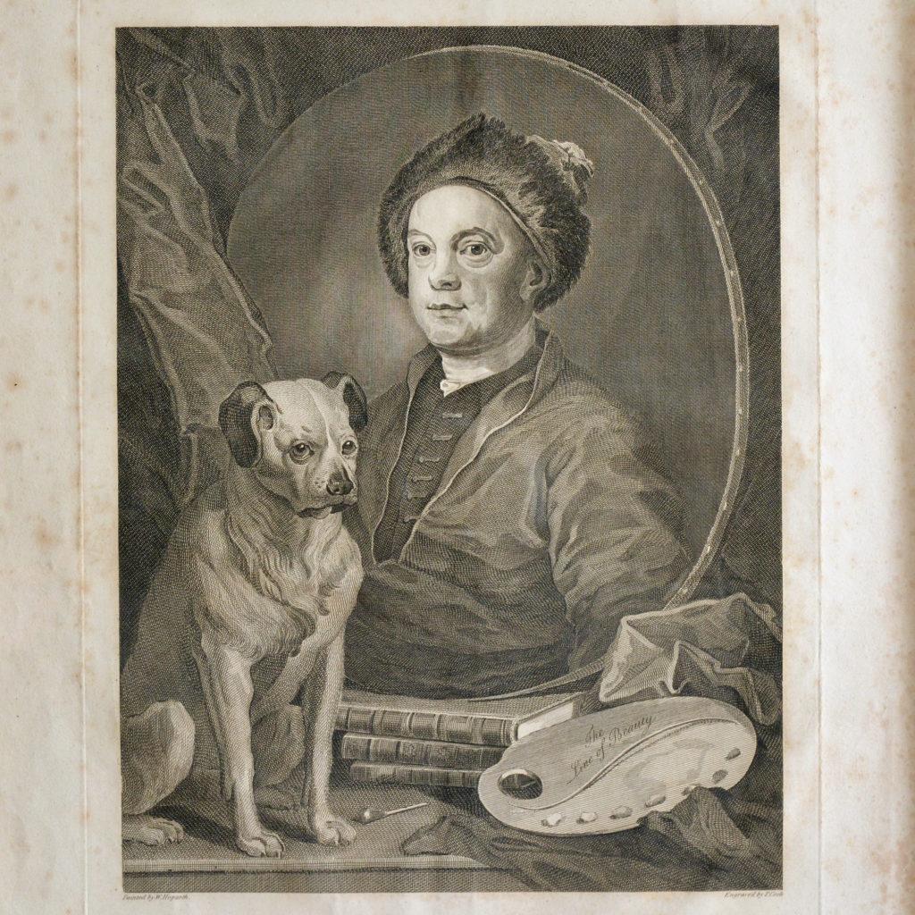 Self portrait with pug, after William Hogarth,-93616