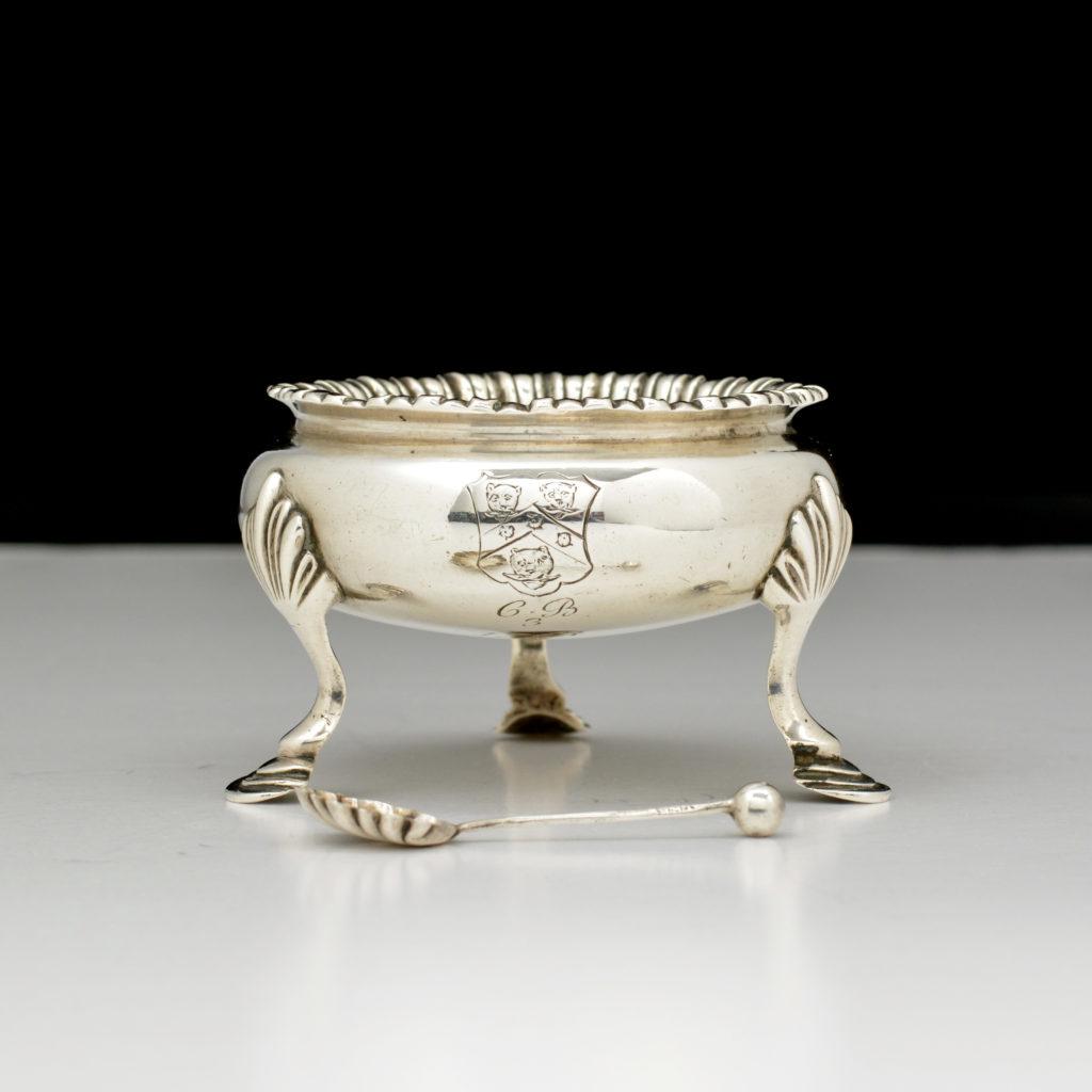 George III sterling silver salt cellar