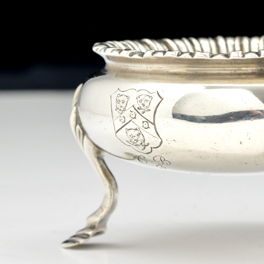 A George III sterling silver salt cellar,-94523