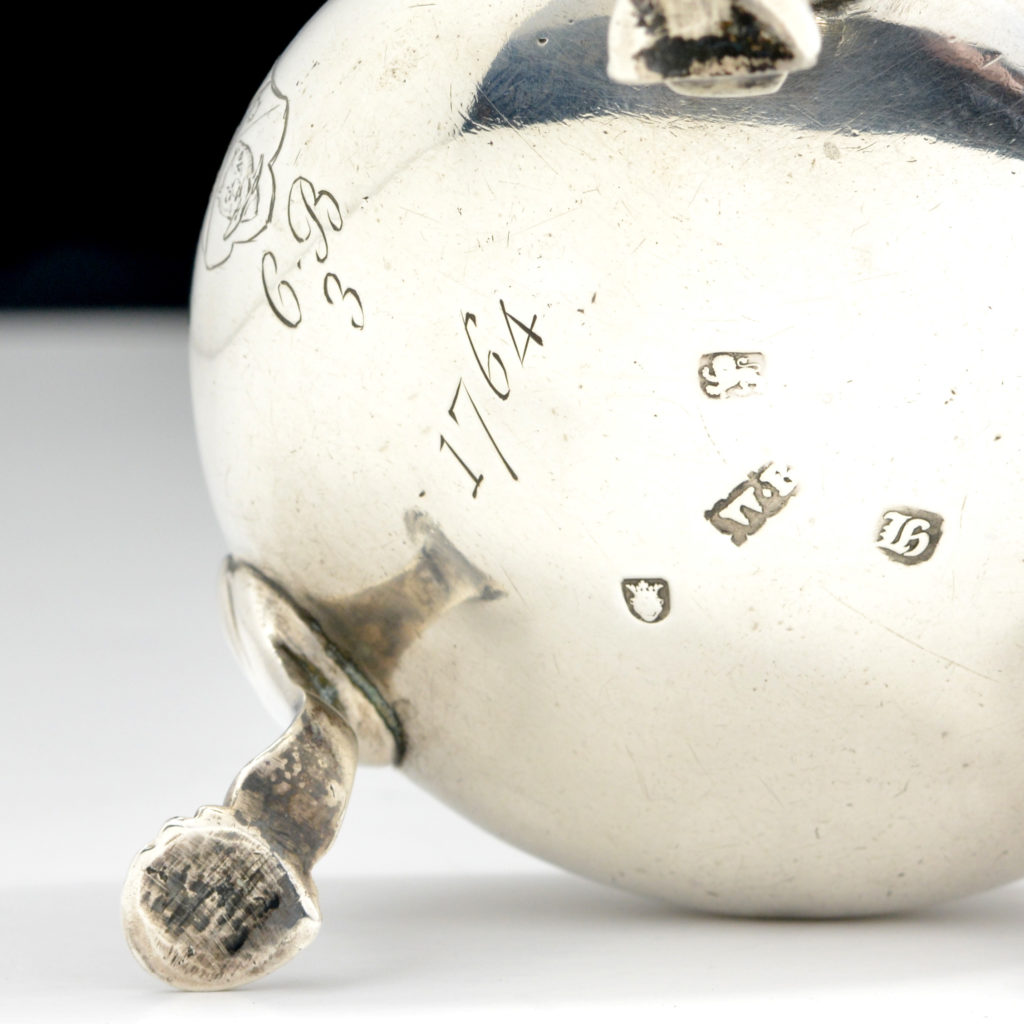 hallmarked sterling silver, 1763, William Bateman I.