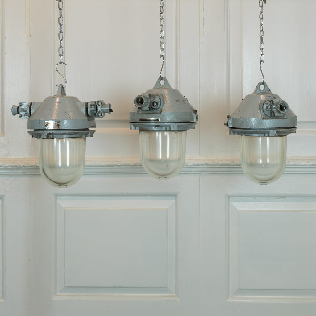 Teal top industrial pendant lights,-0