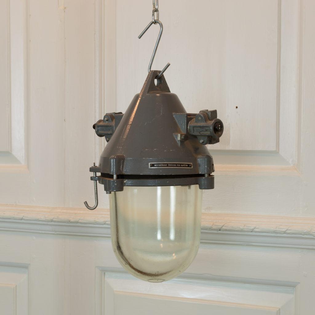 Grey top industrial pendant lights,-94858