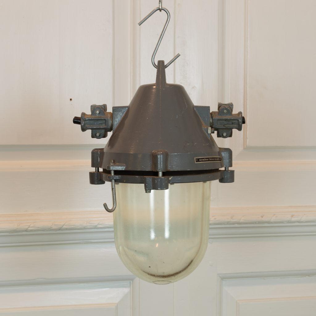 Grey top industrial pendant lights,-94861