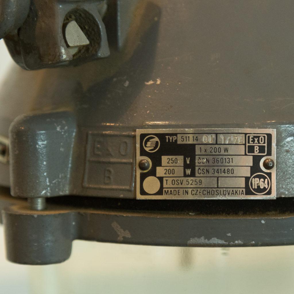 Grey top industrial pendant lights,-94859