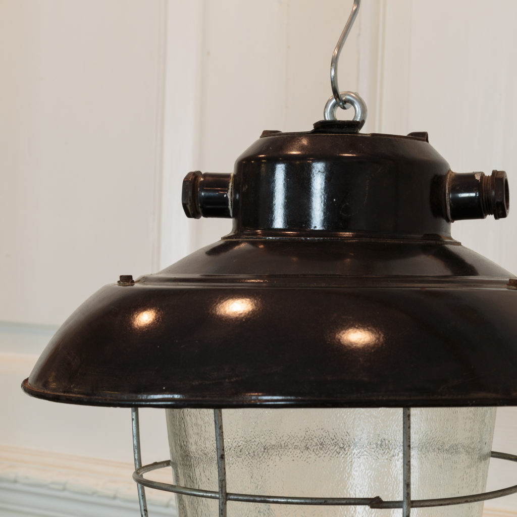 Industrial caged pendant lights, -94855