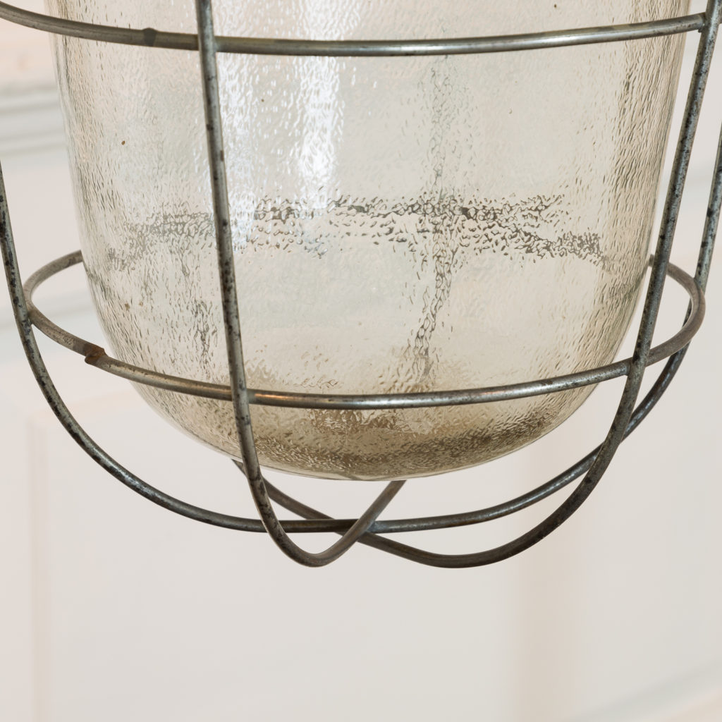 Industrial caged pendant lights, -94854