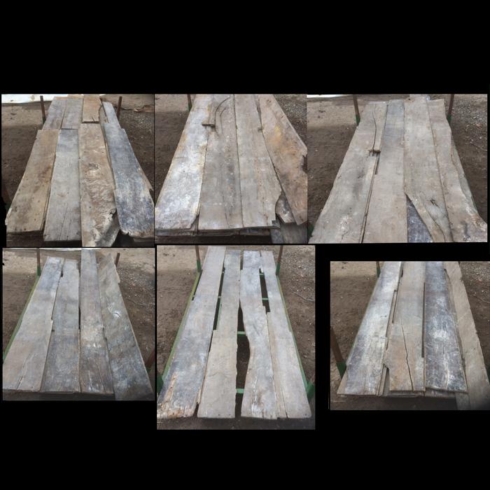 Antique oak floor boards